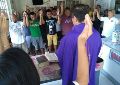 Faith brought together inmates and police officers at the Alaminos City Police Station Detention Center as they mark Ash Wednesday, March 1, 2017. Photo Courtesy of FR. BOB CASACLANG