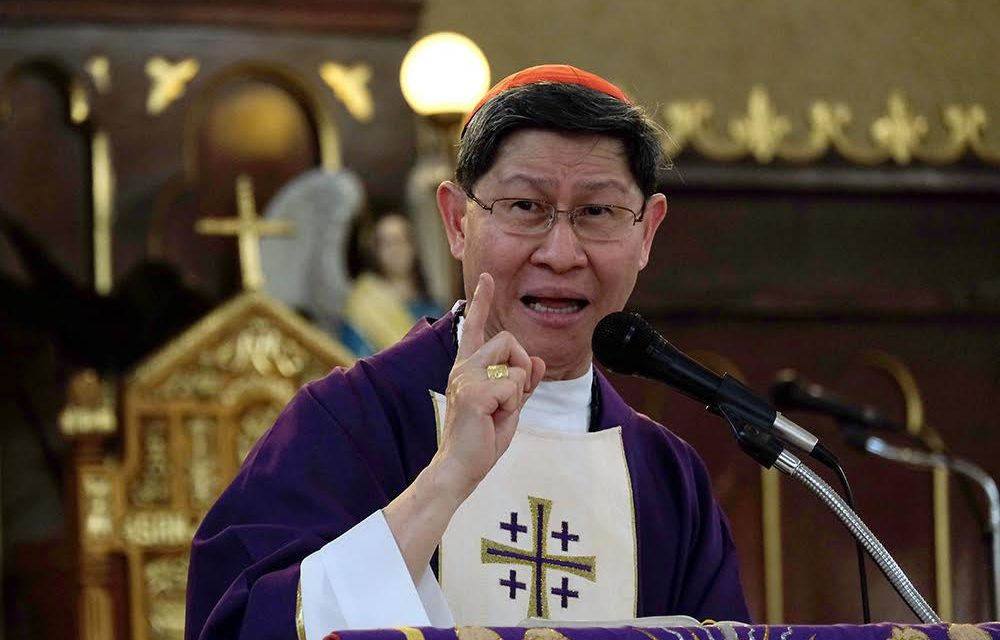 Cardinal Tagle condemns 'evils' of drug trade