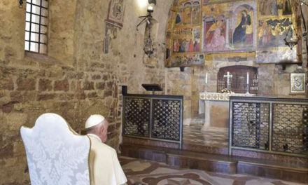 Pope Francis praises Assisi's new 'sanctuary of renunciation'