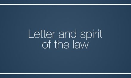 Letter and spirit of the law