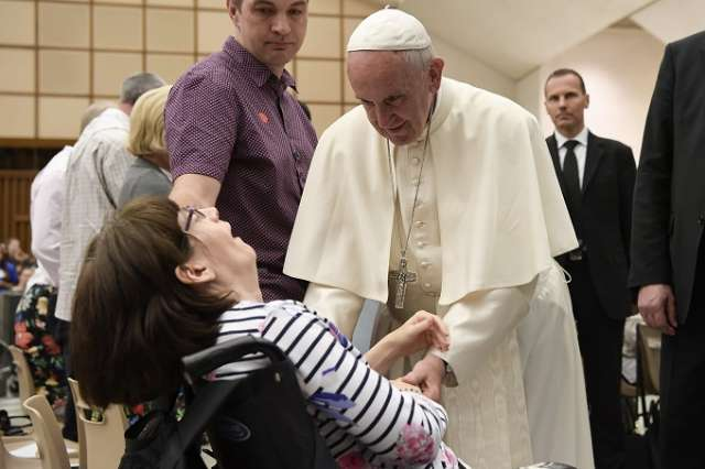 Pope Francis to Huntington's patients: You deserve respect and love