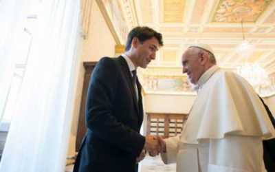 Here's what Pope Francis and Justin Trudeau talked about