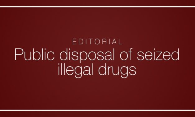 Public disposal of seized illegal drugs