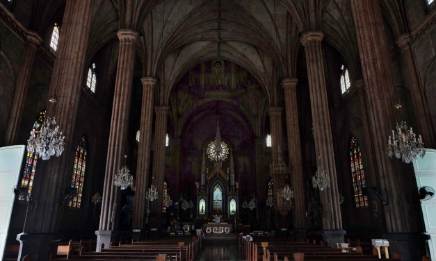 'Church of steel' repair enters next phase