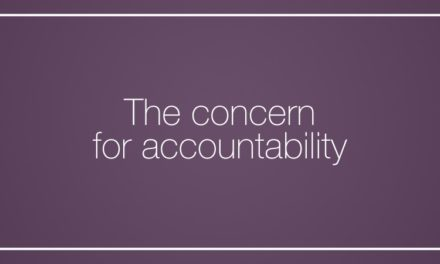 The concern for accountability
