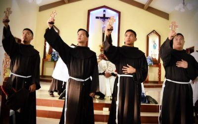 4 friars follow in St. Francis of Assisi's footsteps