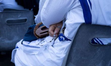 Missionaries of Charity copyright blue and white sari