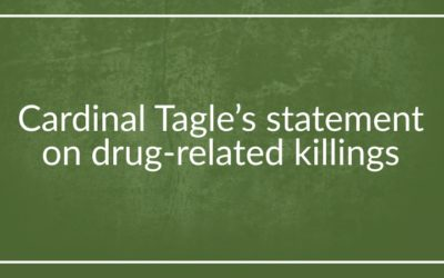 Cardinal Tagle's statement on drug-related killings