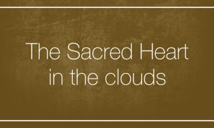 The Sacred Heart in the clouds