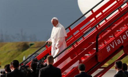 Pope arrives to help promote healing in Colombia, scarred by war