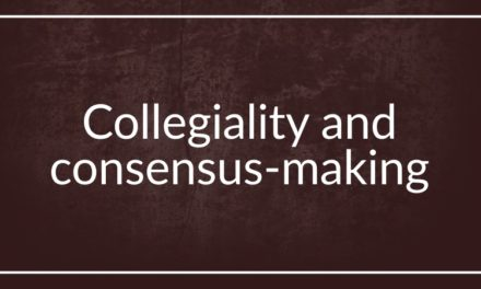 Collegiality and consensus-making