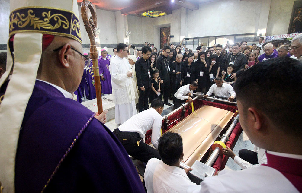 Cardinal Vidal laid to rest after huge funeral
