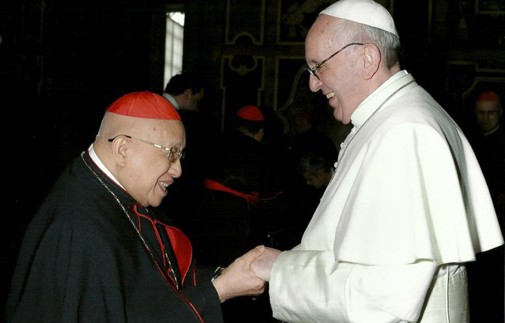 Pope Francis mourns death of Cardinal Vidal