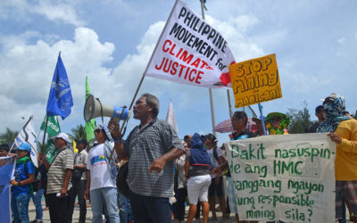 Protests erupt over Manicani mining permit renewal