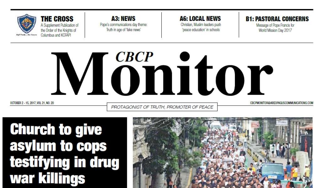 CBCP Monitor Vol 21 No 20