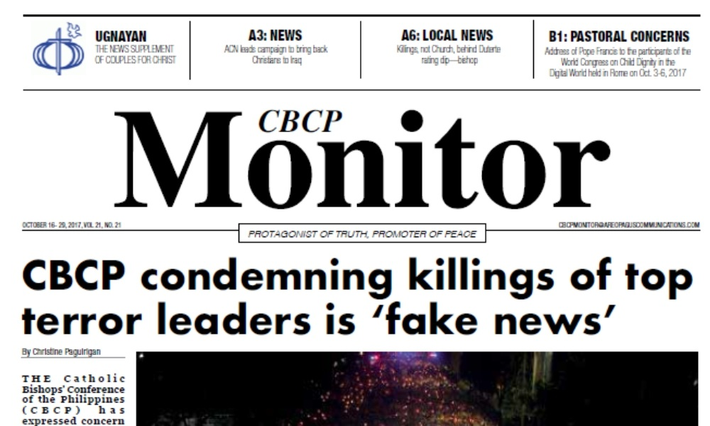 CBCP Monitor Vol 21 No 21