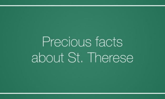 Precious facts about St. Therese