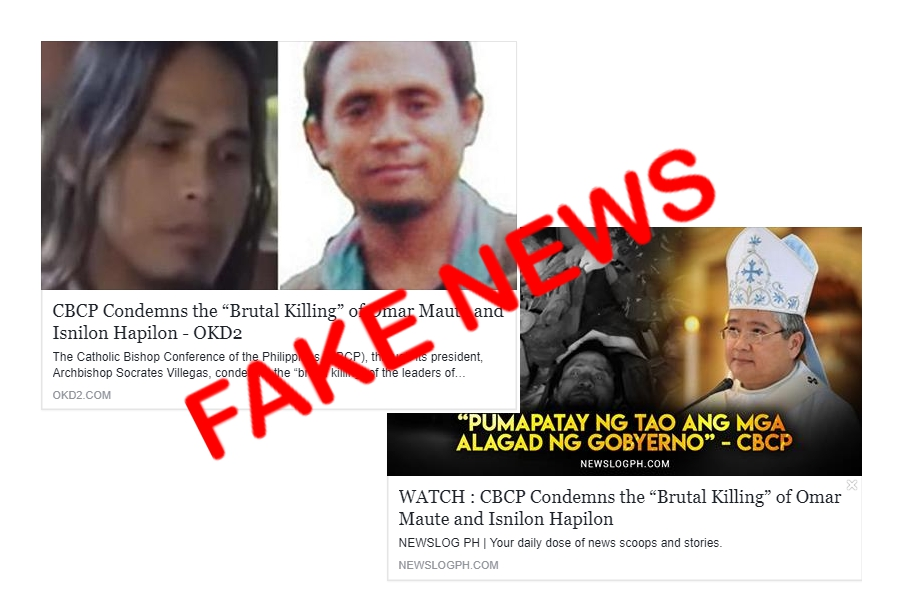 CBCP condemning killings of top terror leaders is 'fake news'