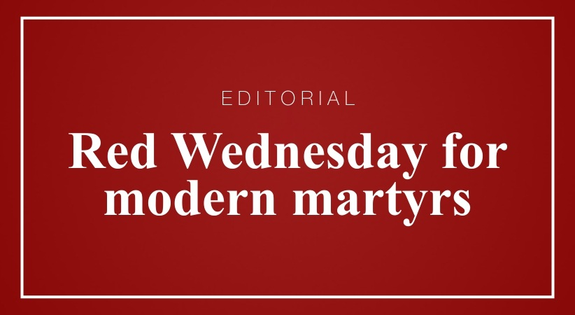 Red Wednesday for modern martyrs