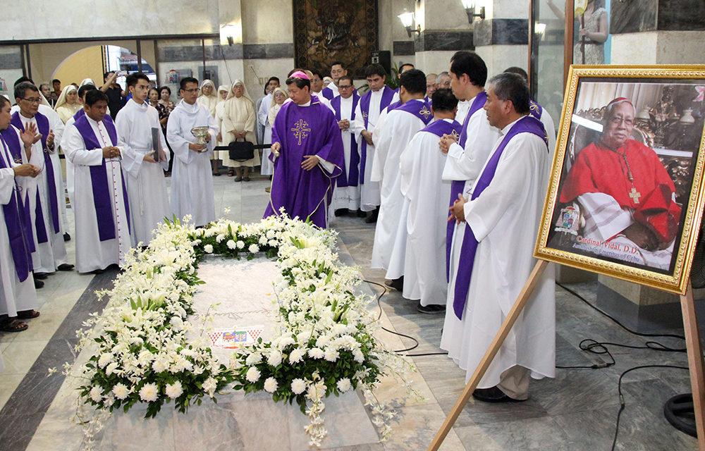 Cebu archdiocese marks 40th day since Cardinal Vidal's death