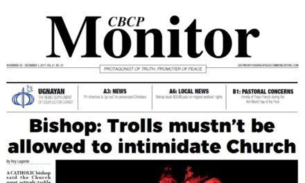 CBCP Monitor Vol 21 No 23