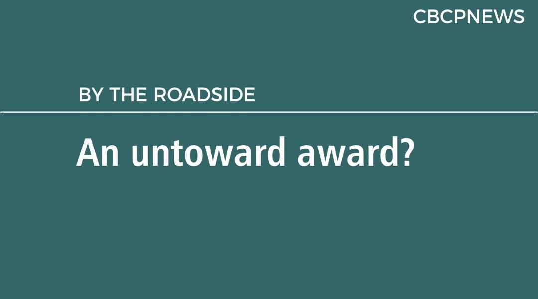 An untoward award?