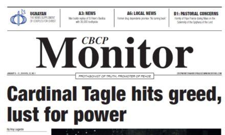 CBCP Monitor Vol 22 No 1