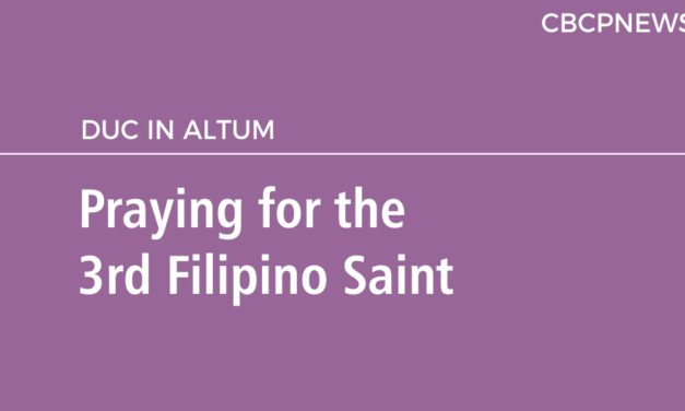 Praying for the 3rd Filipino Saint