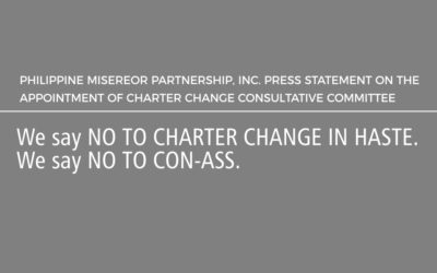 We say NO TO CHARTER CHANGE IN HASTE. We say NO TO CON-ASS.