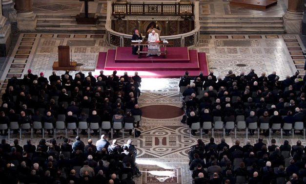 Acknowledge sin, but look for signs of God at work, pope tells priests