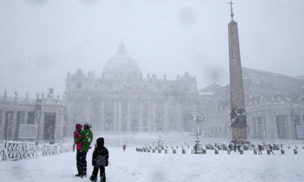 Vatican in snow