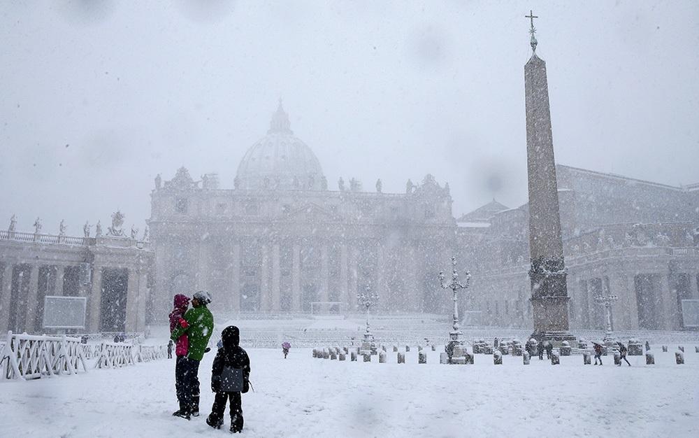 Vatican in snow