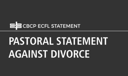 PASTORAL STATEMENT AGAINST DIVORCE