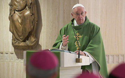 Pope Francis: Corrupt people can never be saints