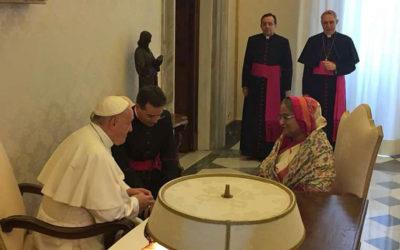 Pope, Bangladesh Prime Minister discuss Rohingya crisis at Vatican