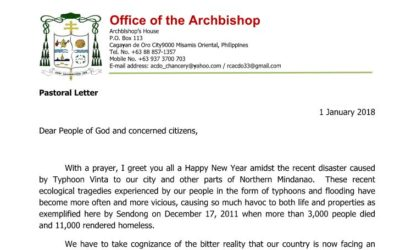 Pastoral Letter of Abp. Ledesma on the Environment