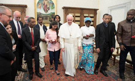 Family of Pakistani woman on death row visits Pope
