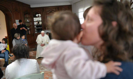 Pope visits group home for women prisoners with small children