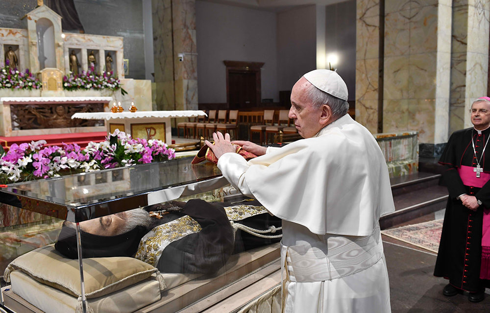 Pope visits shrine of Padre Pio