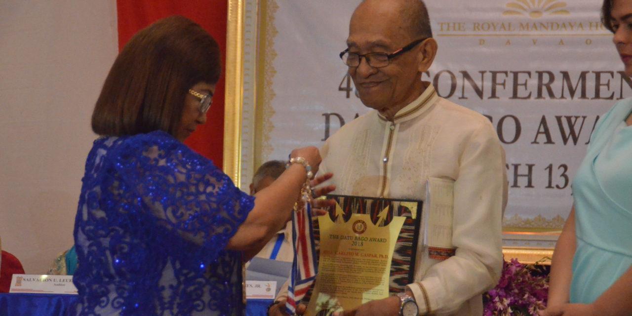 Redemptorist brother is Datu Bago awardee