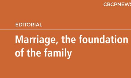Marriage, the foundation of the family