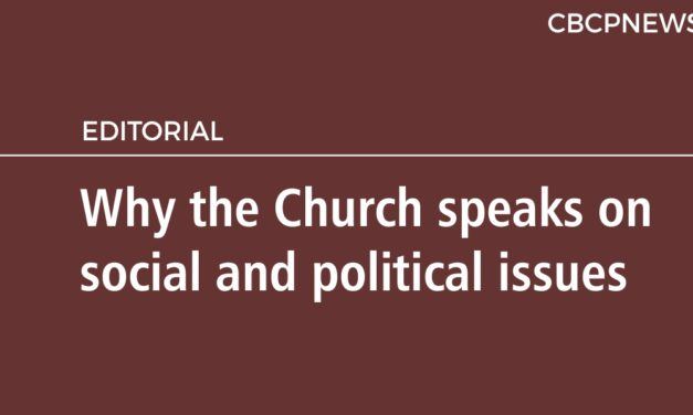 Why the Church speaks on social and political issues