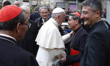 Pope visits Roman parish