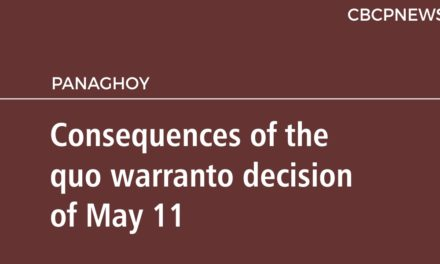 Consequences of the quo warranto decision of May 11