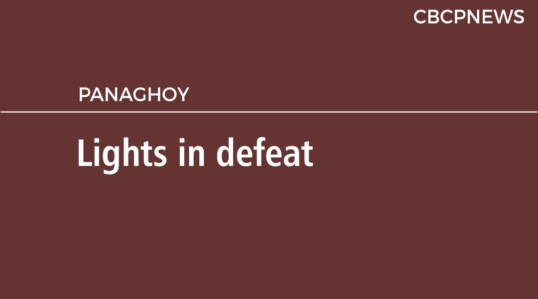 Lights in defeat