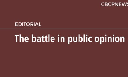 The battle in public opinion