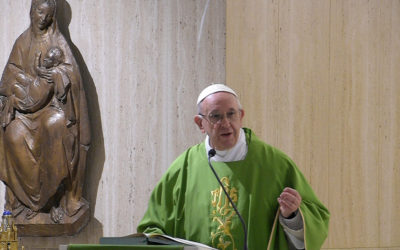 Dictatorships begin with taking over media to spread lies, pope says