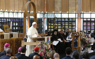 Broken world needs Christian unity, pope tells Christian leaders at WCC