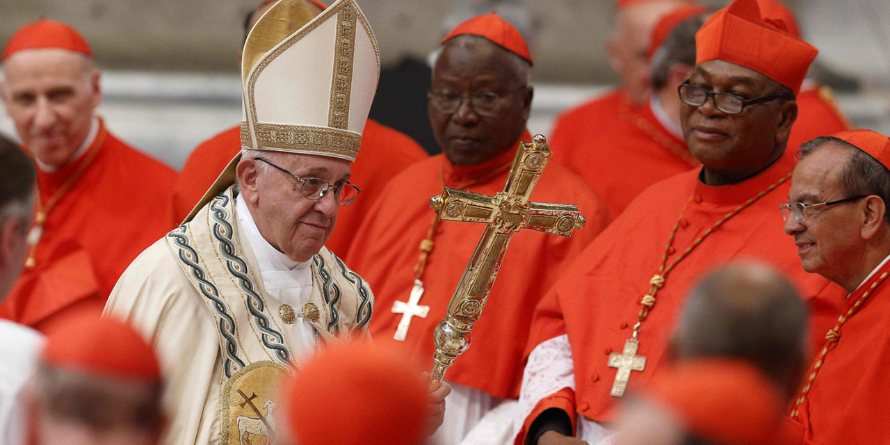 Credible leadership serves others, pope tells cardinals at consistory