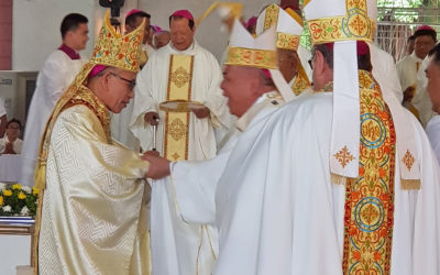 Bishop Aseo formally takes over Tagum diocese